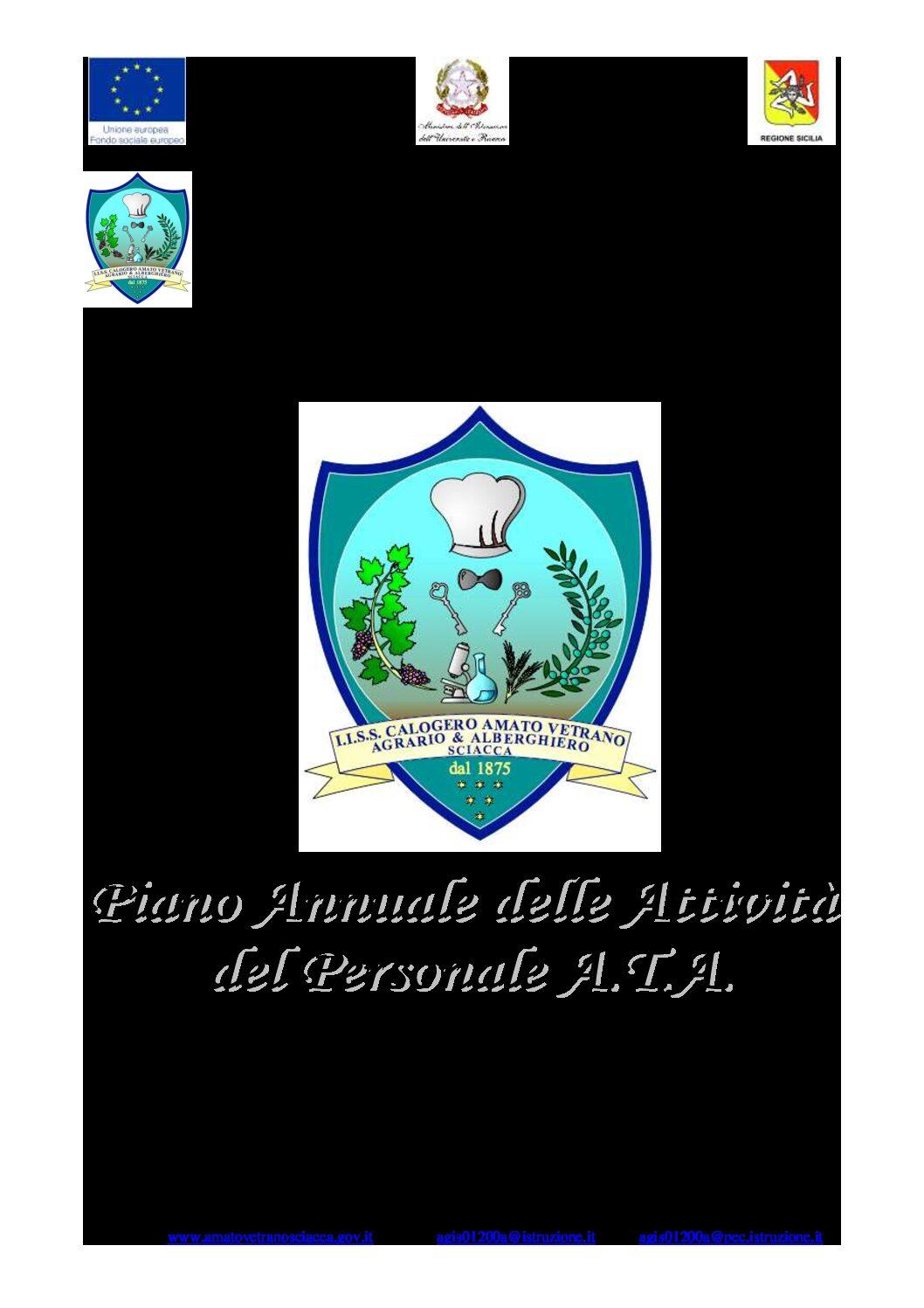 Piano attività del Personale A.T.A. a.s. 2020-2021